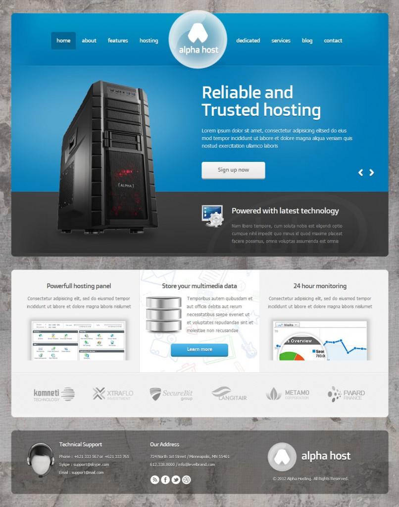 Alpha - Modern Hosting Template