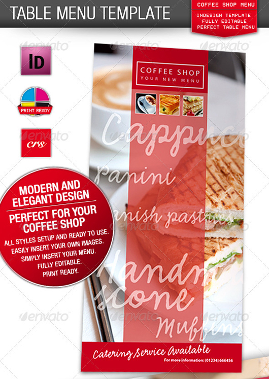 Cafe, Coffee Shop Restaurant Menu