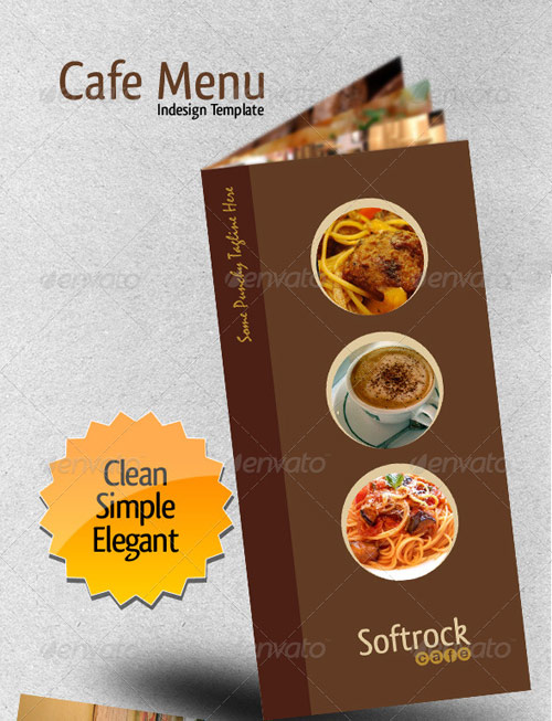 Cafe Menu Indesign Template