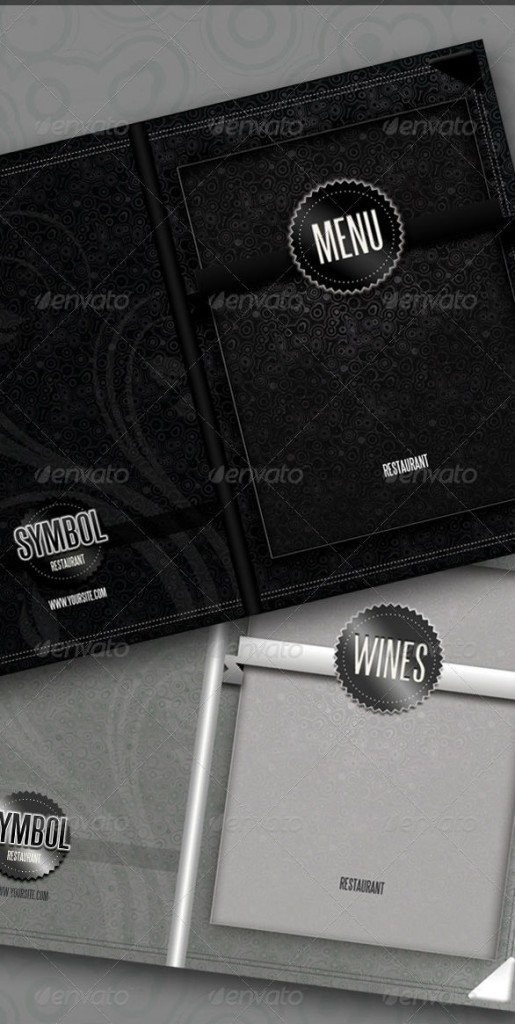 Modern Restaurant - Menu And Wineslist Covers