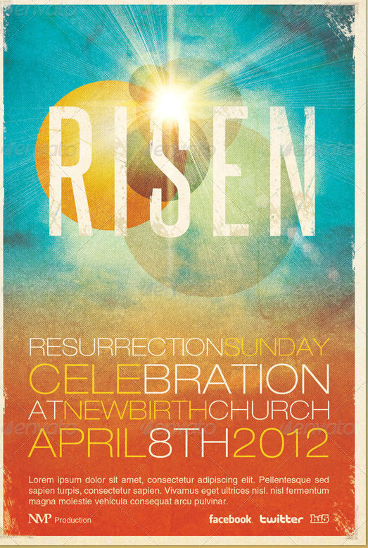 Photoshop viz 20 best easter church and party flyer templates of 2013 for Church flyers templates free download