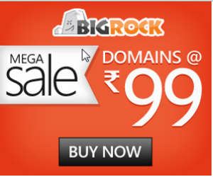 Bigrock Domain rs 99