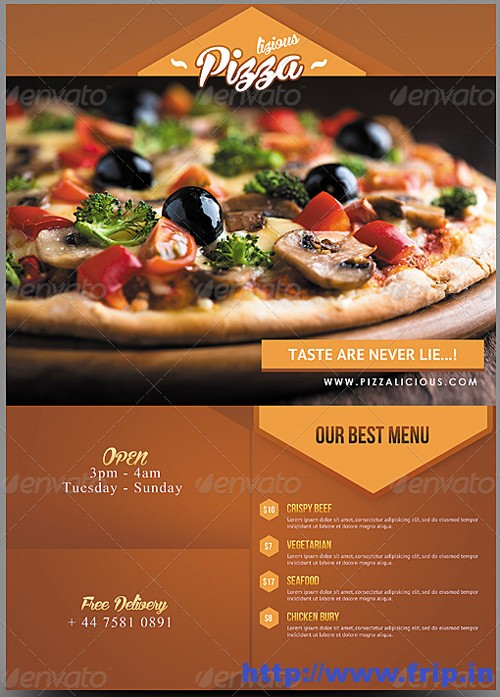 pizza flyer template image collections template design free download